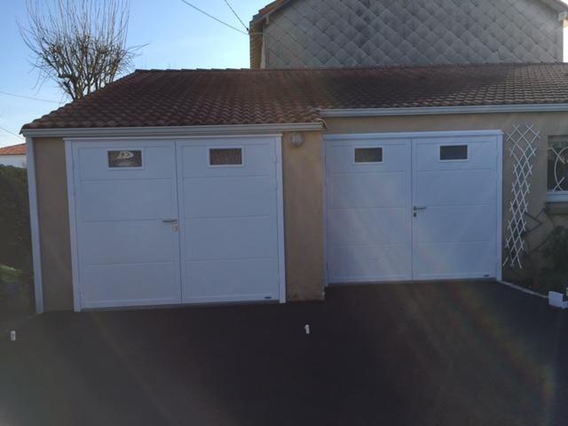 Double Porte De Garage Lainé Sarl Menuiserie Alu Et Pvc
